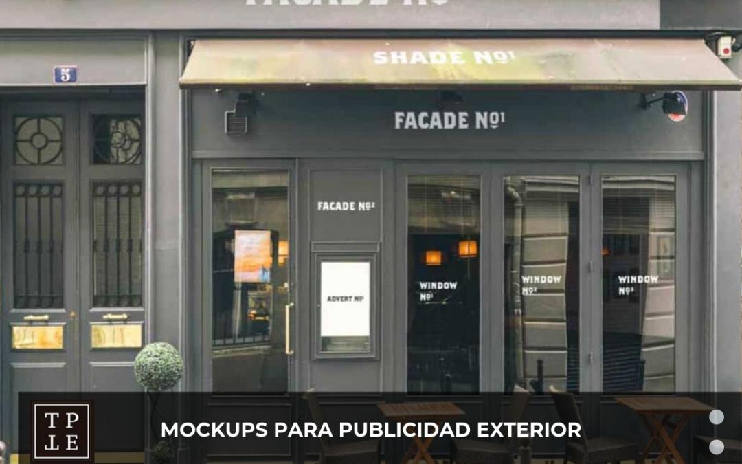 Mockups para publicidad exterior gratuitos
