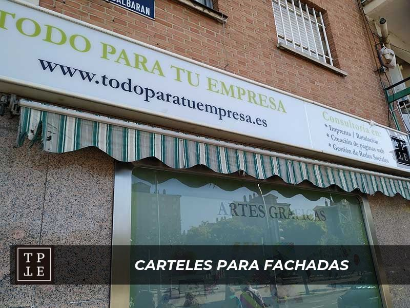 Carteles para fachada en Madrid: Consultoría TPTE