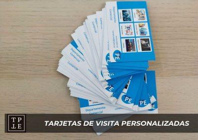 Tarjetas de visita personalizadas en Madrid: TPTE