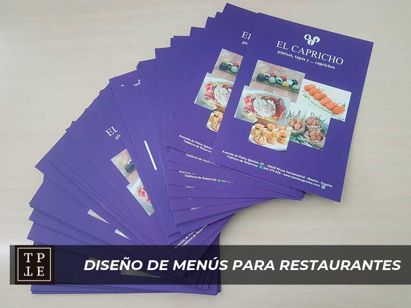 Diseño de menús de restaurantes: El Capricho