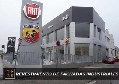 Revestimiento de fachadas industriales: concesionarios Ascauto