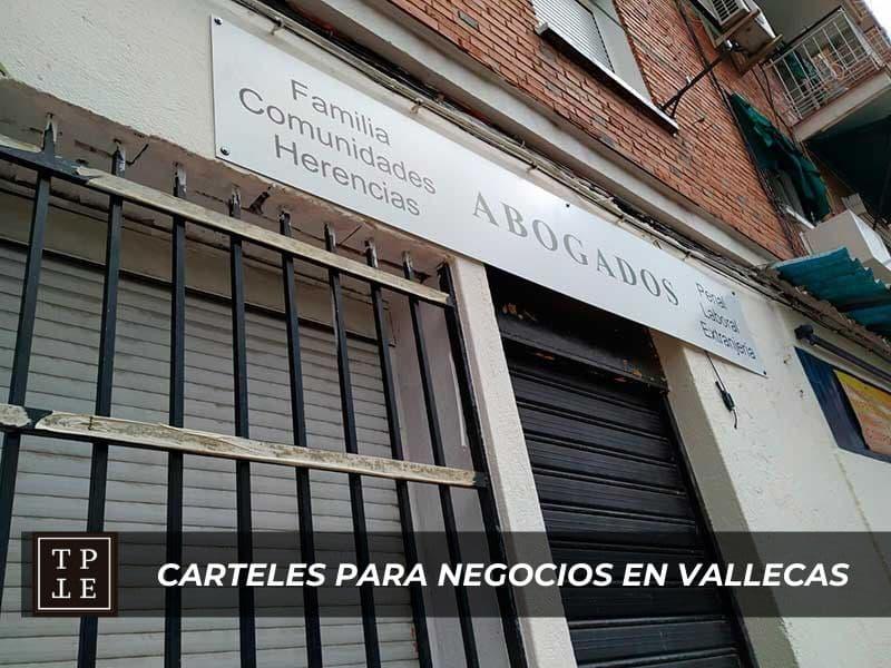 Carteles para negocios en Vallecas: despacho de abogados