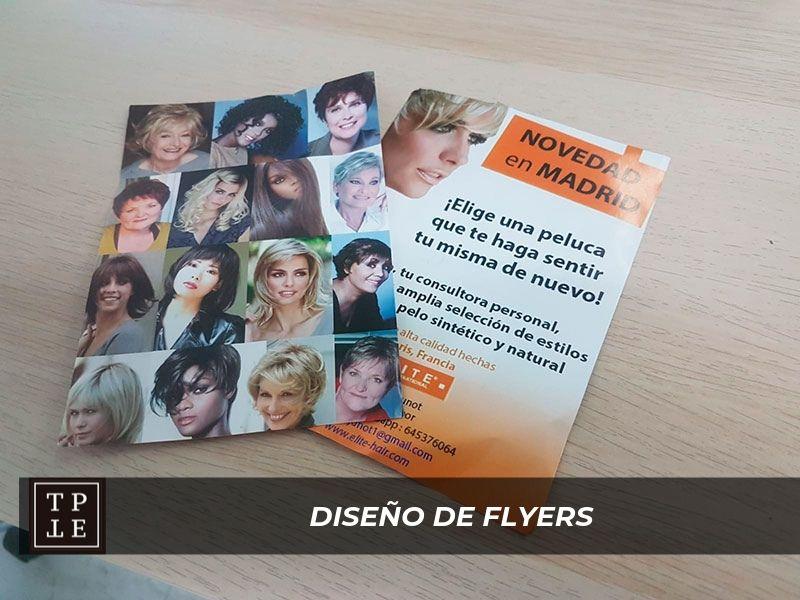 Diseño de flyers en Madrid: Elite Hair