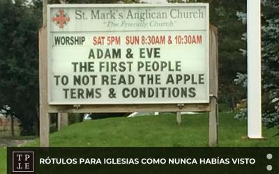 Rótulos para iglesias como nunca habías visto