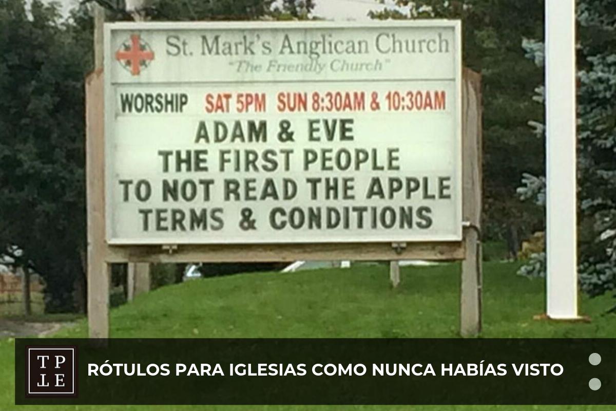 rotulos para iglesias divertidos