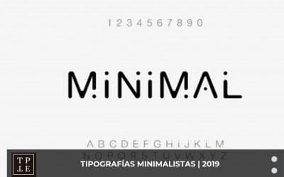 Tipografías minimalistas gratuitas – 2019