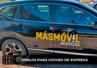 Vinilos para coches de empresa: MásMóvil