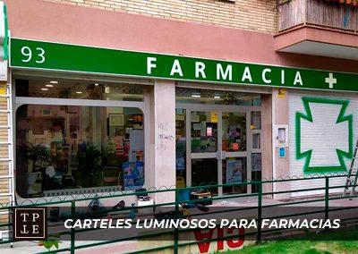 Carteles luminosos para farmacias: Farmacia Las Musas