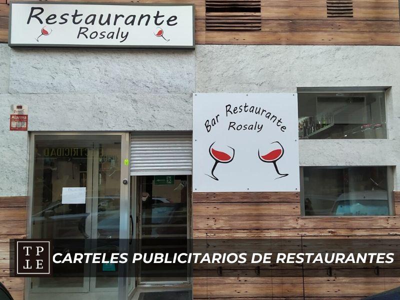 Carteles publicitarios de restaurantes: Bar Rosaly