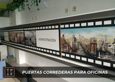 Puertas correderas para oficinas en Madrid