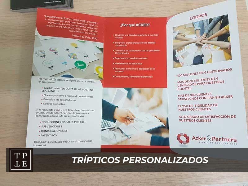Trípticos personalizados: Acker & Partners