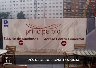 Rótulos de lona tensada: CC Principe Pío